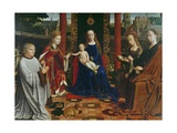 The Virgin and Child with Saints and Donor, 1523 Giclee Print by Gerard David