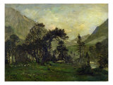 The Mahoura at Cauterets Giclee Print by Charles-Francois Daubigny