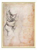 Study of Torso and Buttock Giclee Print by  Michelangelo Buonarroti