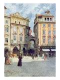 View of Staromestsky Rynk, from 'Stara Praha' Giclee Print by Vaclav Jansa
