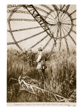 Framework of the Zeppelin Shot Down in the Vardar Marshes, Near Salonika, 1914-19 Giclee Print
