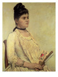Portrait of the Step Daughter, 1889 Giclee Print by Giovanni Fattori