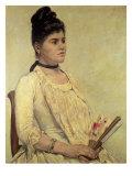 Portrait of the Step Daughter, 1889 Lámina giclée por Giovanni Fattori