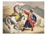 A Tartar with his Horse, engraved by the Thierry Brothers, 1825 Giclee Print by Louis Dupré