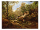Pines and Birch Trees or, The Forest of Fontainebleau, c.1855-57 Giclee Print by Henri Joseph Constant Dutilleux