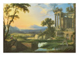 Italian Landscape with Ruins Giclee Print by Pierre Patel