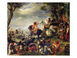 Battle of Marseilles, 4th October 1693, 1837 Giclee Print by Eugene Deveria