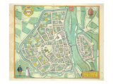 Map of Maastricht, from 'Civitates Orbis Terrarum' by Georg Braun Giclee Print by Joris Hoefnagel