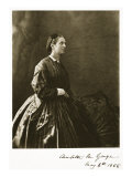 Charlotte M. Yonge, 4th May 1866 Giclee Print by Charles Lutwidge Dodgson
