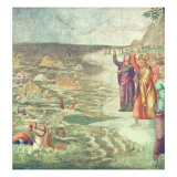 The Crossing of the Red Sea Giclee Print by Bernardino Luini