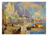 Capri Seascape Giclee Print by Konstantin Ivanovich Gorbatov