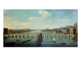 The Thames at Westminster Giclee Print by William James