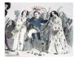 Caricature of Honore de Balzac Giclee Print by Grandville