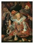 Shrovetide Revellers Giclee Print by Frans Hals