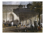 Imperial Gate of Topkapi Palace and Fountain of Sultan Ahmed III, Istanbul, 1839 Giclee Print by Thomas Allom