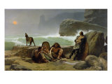 The Gaulish Coastguards, 1888 Giclee Print by Jean Jules Antoine Lecomte du Nouy