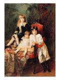 Mr. Balashov's Children, 1880 Giclee Print by Konstantin Egorovich Makovsky