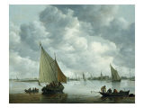 Fishingboat in an Estuary, 1655 Giclee Print by Jan Josephsz. Van Goyen