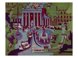 The Brandenburg Gate, Berlin, 1929 Giclee Print by Ernst Ludwig Kirchner