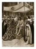 The Anointing of Charles I by George Abbot, Archbishop of Canterbury, at Westminster Abbey Reproduction procédé giclée par Amedee Forestier