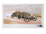 A Renault Racing Car, 1908 Giclee Print by Ernest Montaut