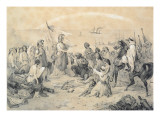Conquest and Civilisation', Allegory of the French Invasion of Algeria on 5th July 1830 Giclee Print by Victor Adam