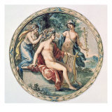 Apollo with his Lyre, Mercury and a Muse Giclee Print by Giovanni Battista Cipriani