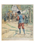 Front cover of a Serialisation of &#39;Vingt Ans Apres&#39; by Alexandre Dumas Giclee Print by Eugene Damblans