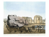 Mode in Which the Young Memnon's Head was Removed Reproduction procédé giclée par Agostino Aglio