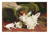 Time to Play, 1886 Giclee Print by Charles Burton Barber
