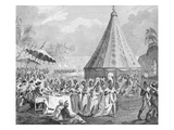 Public Procession of the King's Women, Plate IV from 'The History of Dahomey' by Archibald Dalzel,  Giclee Print by Robert Norris
