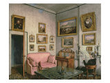 Col. Norcliffe's study at Langton Hall, c.1837 Giclee Print by Mary Ellen Best