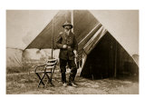 General George G. Meade in Camp, 1861-65 Giclee Print by Mathew Brady