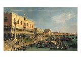 Palazzo Ducale and the Riva degli Schiavoni, Venice Giclee Print by Antonio Canaletto