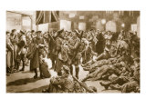 After the Fleeting Furlough: British Veterans Awaiting Flanders Trench Special at Victoria, 1914-19 Giclee Print by Frank Dadd