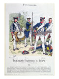 Soldiers from the Prussian Infantry Regiment von Below in 1757, c.1890 Giclee Print by Richard Knoetel
