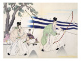 Nobles Practice Archery Giclee Print