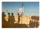 Shadow Play Depicting the Raising of the French Flag at Fashoda in 1898, 1900 Giclee Print by Leon Leroy