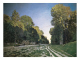 Route de Chailly, Fontainebleau, 1864 Giclee Print by Claude Monet