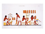 Leatherworkers from a Rare Record of Frescoes from Thebes, recorded 1819-1822 Giclee Print by Frederic Cailliaud