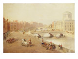 The River Liffey and the Law Courts, Dublin, 1879 Giclee Print by J. Huberts
