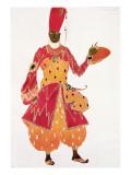 A Eunuch, from the Ballet 'Scheherazade', by Rimsky-Korsakov, Giclee Print by Leon Bakst