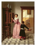 Figures in a Laundryroom, 1864 Giclee Print by Gustaaf Antoon Francois Heyligers