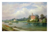 A View of Pope&#39;s House and Radnor House at Twickenham Giclee Print by Alexandre le Bihan