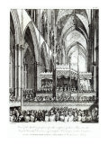 Gallery prepared for the reception of Royal Family in Westminster Abbey, engraved by John Spilsbury Giclee Print by Edward Francis Burney