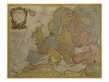 Map of Europe, Published in 1700, Paris Giclee Print by Guillaume Delisle