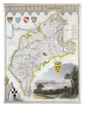Map of Cumberland, from 'Moule's English Counties', c.1836 Giclee Print by Thomas Moule