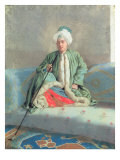 A Gentleman Seated on a Couch Giclee Print by Jean-Etienne Liotard