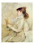 Portrait of Sarah Bernhardt Giclee Print by Jules Bastien-Lepage