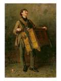 The Hurdy-Gurdy Man, 1869 Reproduction proc&#233;d&#233; gicl&#233;e par Ludwig Knaus